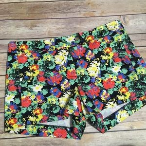 J Crew Factory Floral Stretch Shorts
